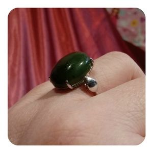 💞🆕💞 Haitian Jade Ring stamped 925 silver